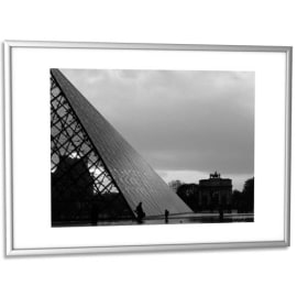 PAPERFLOW Cadre photo contour aluminium coloris Argent, plaque en plexiglas. Format 30 x 42 cm photo du produit