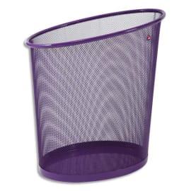 ALBA Corbeille à papier en métal Mesh Violette 18 litres - Dimensions : L35,5 x H39 x P20 cm photo du produit