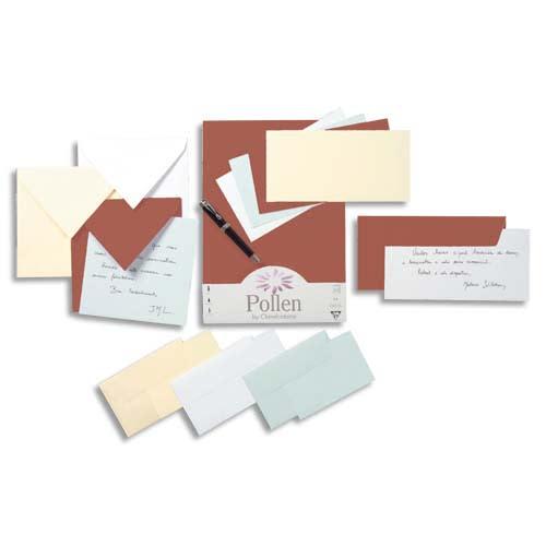 CLAIREFONTAINE Paquet de 20 enveloppes 120g POLLEN 16,5x16,5cm. Coloris Ivoire photo du produit Principale L