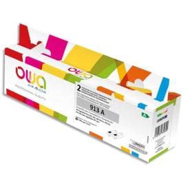 OWA Pack de 2 cartouches compatibles Jet d'encre Noir HP 913A K10486OW photo du produit