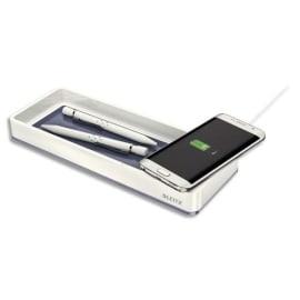 LEITZ Plumier DUAL avec chargeur à induction - Blanc photo du produit