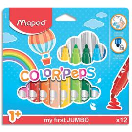 MAPED Pochette 12 feutres de coloriage COLOR'PEPS pointe extra large. Coloris assortis photo du produit