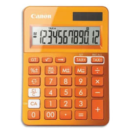 CANON Calculatrice de bureau 12 chiffres LS-123K Orange 9490B004AA photo du produit