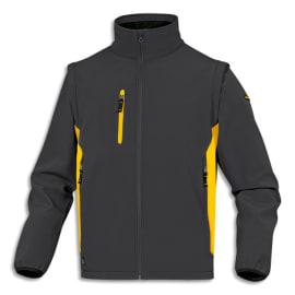 DELTA PLUS Veste Mysen2 D-Match Gris Jaune polyester et élasthane, 5 poches, manches amovibles Taille XL photo du produit