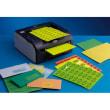Boîte de 400 Etiquettes adhésives couleur Jaune - Format : 105 x 148,5 mm. Planche A4 photo du produit