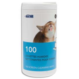 APM Boîte distributrice de 100 lingettes pour tablettes/smartphones 600103 photo du produit