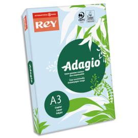 INAPA Ramette 500 feuilles papier couleur pastel ADAGIO Bleu pastel A3 80g photo du produit