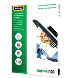 FELLOWES Pack de 100 pochettes A3 100 microns 5351205 photo du produit