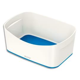 LEITZ Bac de rangement MYBOX sans couvercle en ABS. Coloris Blanc fond Bleu photo du produit