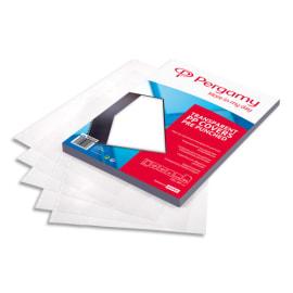 PERGAMY Boîte de 100 plats de couverture perforés A4 200 microns 900058 photo du produit