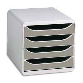EXACOMPTA Module de classement 4 tiroirs BigBox Gris lumière/Granite photo du produit
