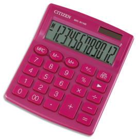CITIZEN Calculatrice de bureau 12 chiffres SDC812NR Rose 7242526 photo du produit