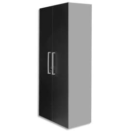 MT INTERNATIONAL Lot de 2 Portes Hautes pour 2 modules MT1 Elégance - Dim 1 porte L39,7 x H159,5 cm Noir photo du produit