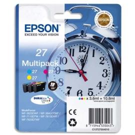 EPSON Multipack Jet d'encre 3 couleurs Cyan Magenta Jaune C13T27054010 photo du produit