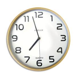 UNILUX Horloge Baltic Hêtre, structure bois, cadran plastique, mécanisme à quartz - Diamètre 30,5 cm photo du produit