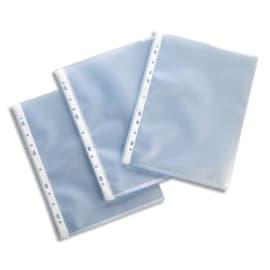 ESSELTE Boîte de 100 pochettes perforées A4 polypropylène grainé 11/100e incolore photo du produit