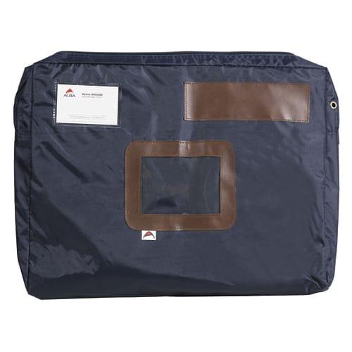ALBA Pochette navette Bleue en PVC à soufflet dimensions : 42x32x5cm photo du produit Principale L