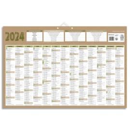 CBG Calendrier Natura maxi, 100% recyclé, 13 mois au recto, blanc au verso - format : 43 x 65 cm photo du produit