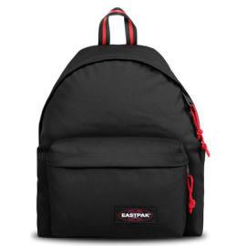 EASTPAK Sac à dos PADDED PAK 24 litres BLAKOUT SAILOR. Un compartiment. Coloris noir, détails rouge. photo du produit