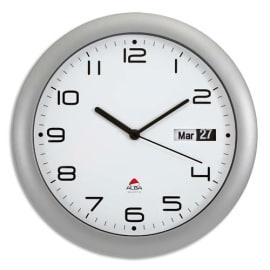 ALBA Horloge murale ronde Gris anthracite diamètre 30 cm avec dateur photo du produit