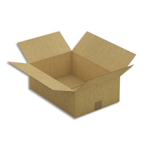 Paquet de 25 caisses américaines simple cannelure en kraft brun - Dimensions : 43 x 15 x 30 cm photo du produit Principale L