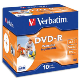 VERBATIM tour de 25 DVD+RW 4x 43489 photo du produit