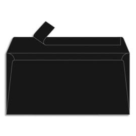 CLAIREFONTAINE Paquet de 20 enveloppes 120g POLLEN 11x22cm (DL). Coloris Noir photo du produit