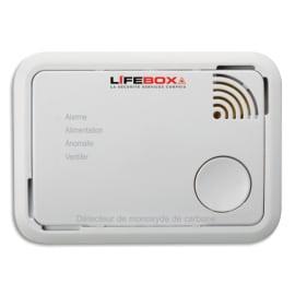 LIFEBOX Détecteur de monoxyde de carbone CE 7 ans Blanc - Dimensions : L10 x H7,2 x P3,6 cm photo du produit
