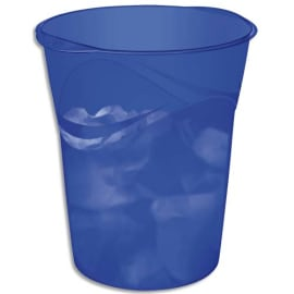 CEP Corbeille à papier Happy 280H Bleu électrique, capacité 14 Litres - Dim : L29 x H33,4 x P30,5 cm photo du produit
