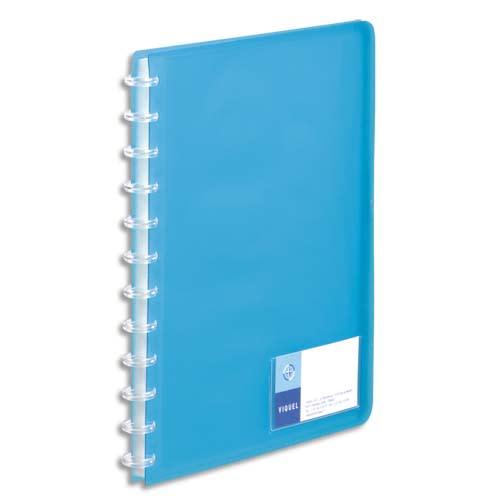 VIQUEL Protège-documents MAXI GEODE en polypro translucide 7/10. 60 vues, 30 pochettes. Coloris Bleu. photo du produit Principale L