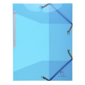 EXACOMPTA Chemise 3 rabats et élastique IDERAMA en polypropylène 5/10e. Coloris Bleu photo du produit