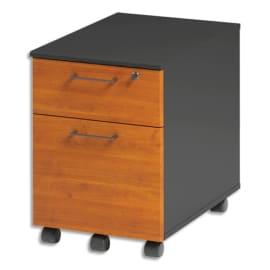 GAUTIER OFFICE Caisson mobile 2 tiroirs dont pour DS Jazz Aulne Gris anthracite - Dim. L42 x H60 x P60 cm photo du produit