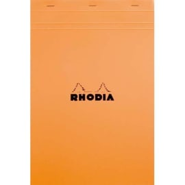 RHODIA Bloc de direction couverture Orange 80 feuilles (160 pages) format A4 réglure 5x5 photo du produit