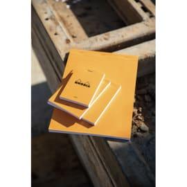 RHODIA Bloc de direction couverture Orange 80 feuilles (160 pages) format A4 réglure 5x5 photo du produit