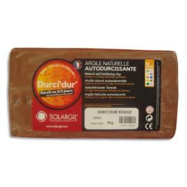 SOLARGIL Argile naturelle autodurcissante DURCI'DUR / Pain de 5 kg Rouge photo du produit