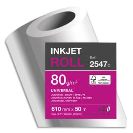 CLAIREFONTAINE Bobine papier Blanc CIE170 Universel 80g pour traceur 0,610mmx50m. Impression Jet d'encre photo du produit