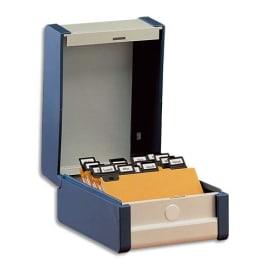 REXEL Boîte à fiches Provence format A7 en largeur H75 x P125 mm Gris, livré avec séparateur métallique photo du produit