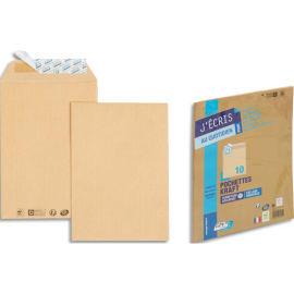 GPV Paquet de 10 pochettes kraft autoadhésif 90g format 260x330 24 photo du produit