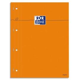 OXFORD Bloc agrafé cotés perforé, réglure pleine page 230x297 papier Blanc seyes photo du produit