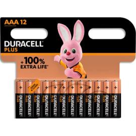 DURACELL Blister de 12 piles PLUS 100% AAA X12 5000394141230 photo du produit