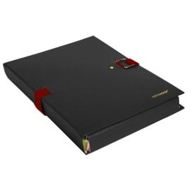 EXACOMPTA Chemise extensible Extensor, grand rabat en pied, balacolor Noir finition imitation cuir photo du produit