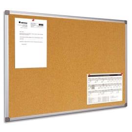 BI-OFFICE Tableau d'affichage en Liège, cadre en PVC Gris - Format : L90 x H60 cm photo du produit