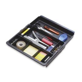 EXACOMPTA Organisateur pour tiroir DRAWINSERT, compartiments amovibles. Dim: L29,8 x P24,6 x 3,6 cm. Noir photo du produit