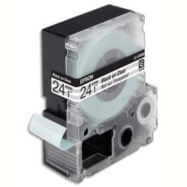EPSON Ruban pour LabelWorks- LK-6TBN Noir/Transparent 24mmx9m C53S656007 photo du produit