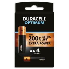 DURACELL Blister de 4 piles OPTIMUM AA 5000394137486 photo du produit