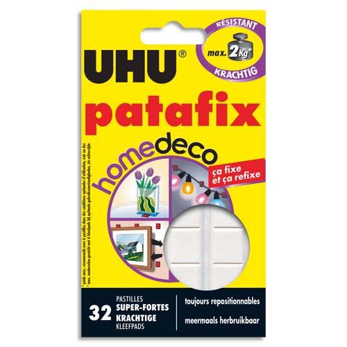 UHU Etui de 32 pastilles PATAFIX Blanche Home Déco résistance 2kg photo du produit Principale L