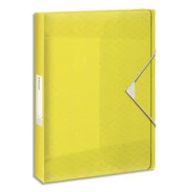 ESSELTE Boîte de classement Colour Ice dos de 2,5 cm, en polypropylène 7/10ème. Coloris Jaune photo du produit
