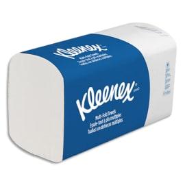 KLEENEX Colis de 15 Paquets de 124 Essuie-mains ultra doux extrême 2 plis plié en Z Ft 21,5x31,5 cm Blanc photo du produit