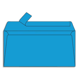 CLAIREFONTAINE Paquet de 20 enveloppes 120g POLLEN 11x22cm (DL). Coloris Bleu turquoise photo du produit