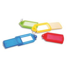PAVO Sachet de 5 porte-clés avec anneaux - Longueur 5,7 cm, largeur 3 cm coloris assortis photo du produit